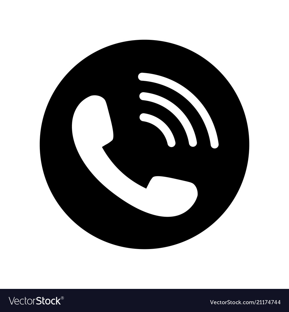 phone icon in black circle telephone symbol vector 21174744